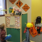 Puppet theater and construction zone