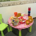 Play table and food