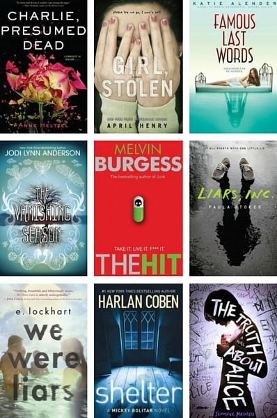 YA Mystery book covers