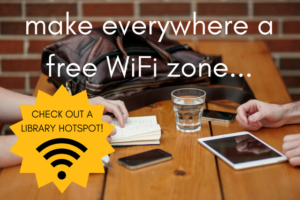 The library is a free WiFi zone.