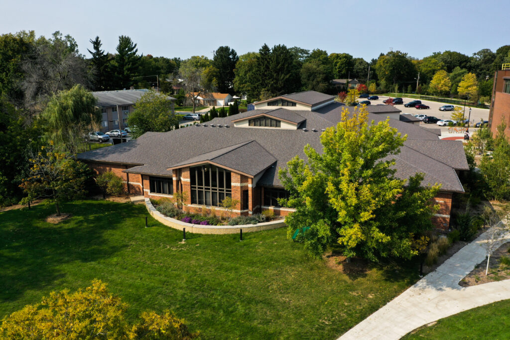 Library aerial view. Photo credit: Richard Loria